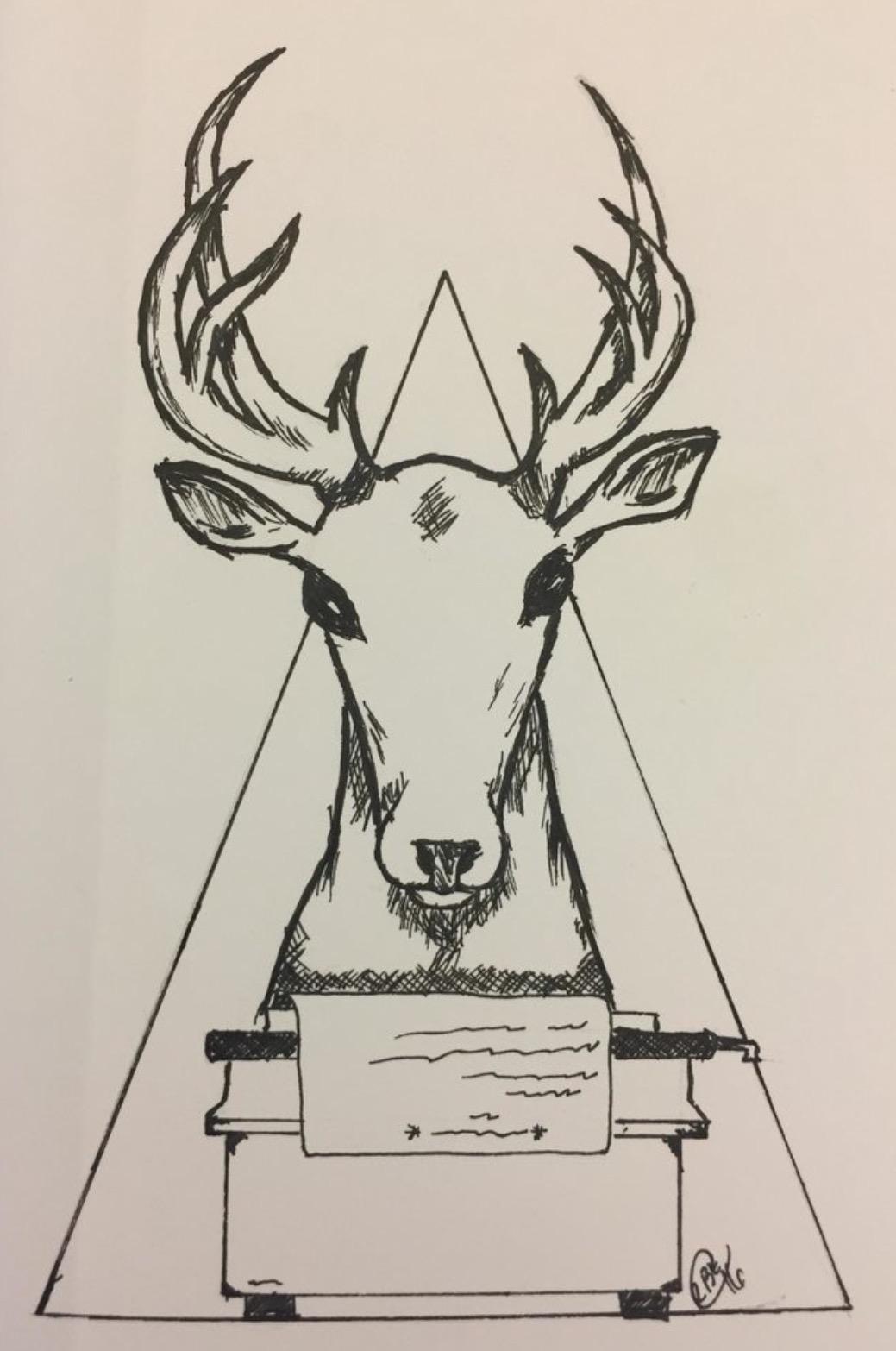 ciervo blanco escritor máquina de escribir club creativa