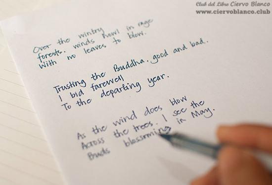 haiku escritura ciervo blanco sesión club lectura madrid gratis taller